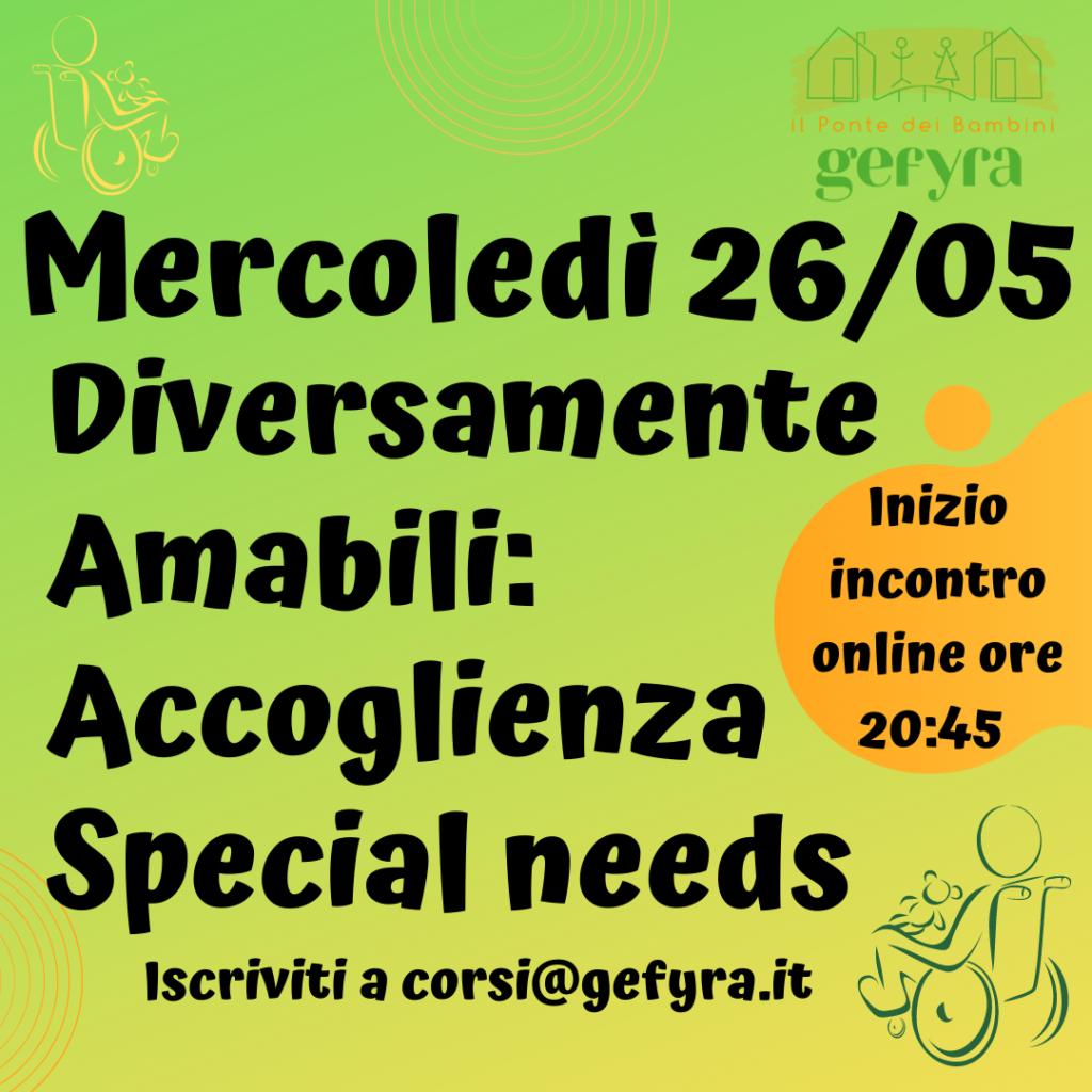 Accoglienza Special Needs, Incontro Corso Adozione